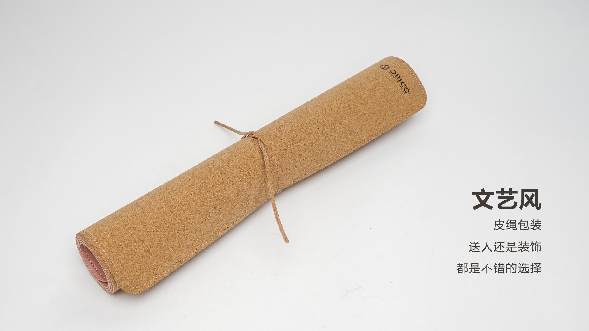 远看是硬实木 其实手感是柔软的皮革的双面桌面鼠标垫  图片 科技 评测 第1张