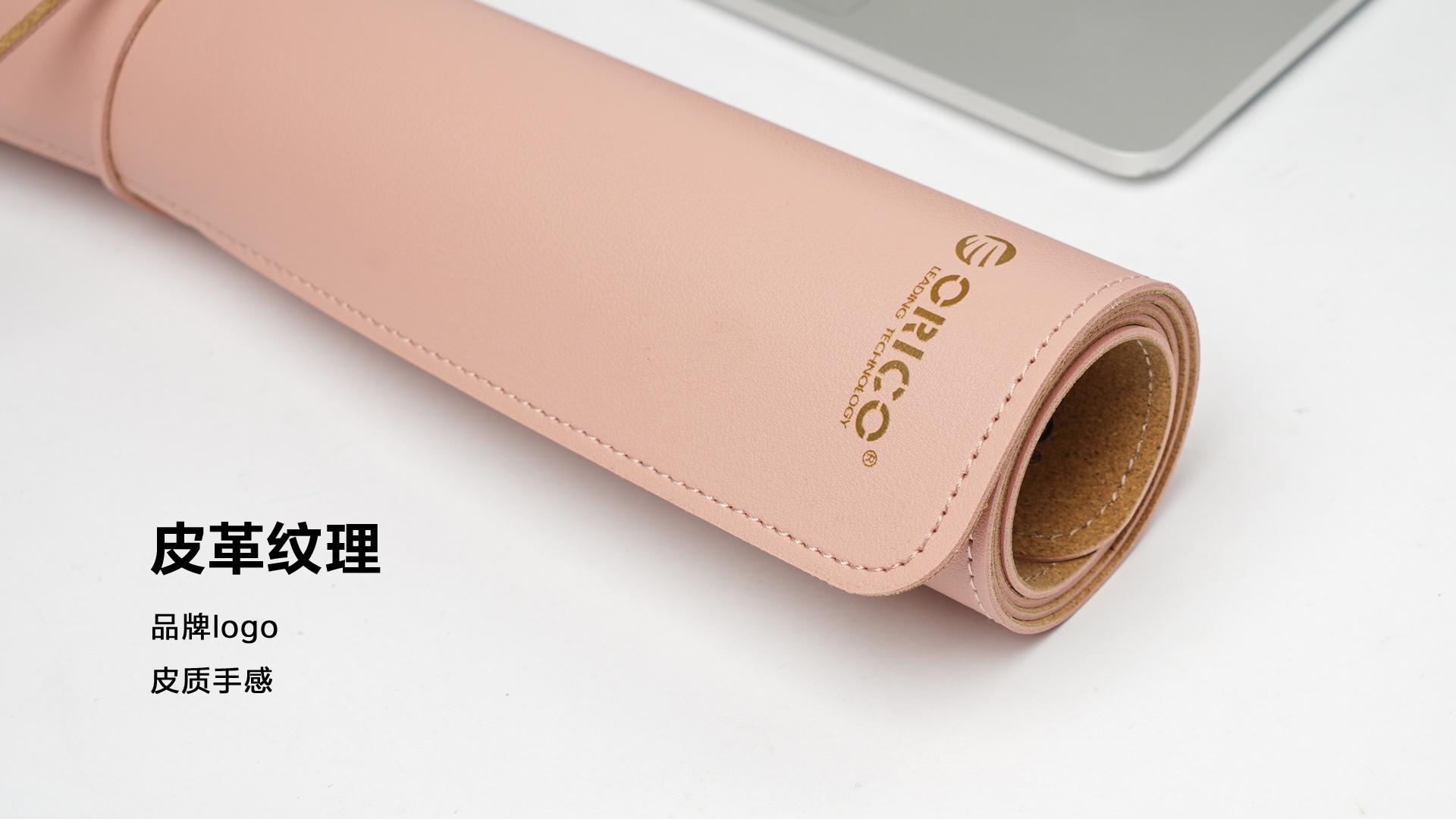 远看是硬实木 其实手感是柔软的皮革的双面桌面鼠标垫  图片 科技 评测 第4张