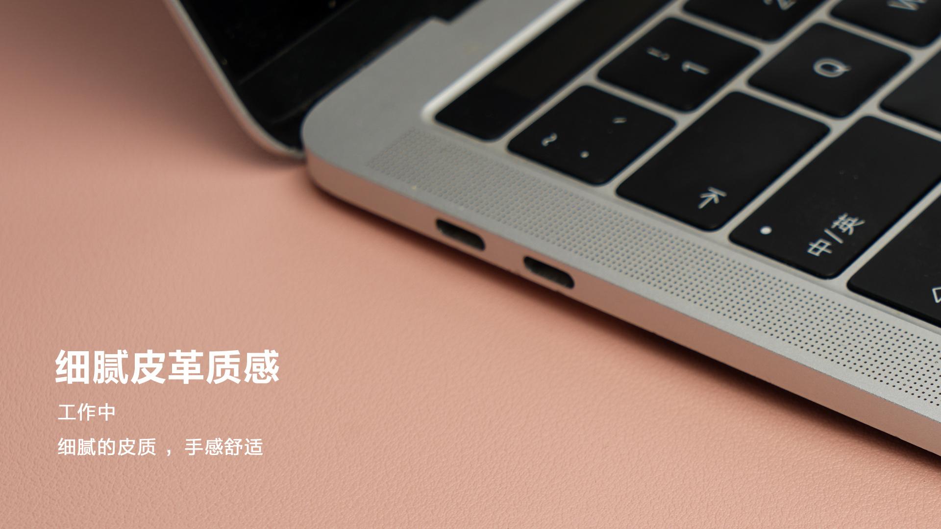 远看是硬实木 其实手感是柔软的皮革的双面桌面鼠标垫  图片 科技 评测 第9张